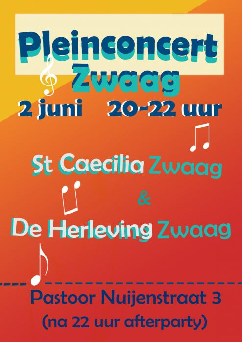 Poster pleinconcert St. Caecilia Herleving